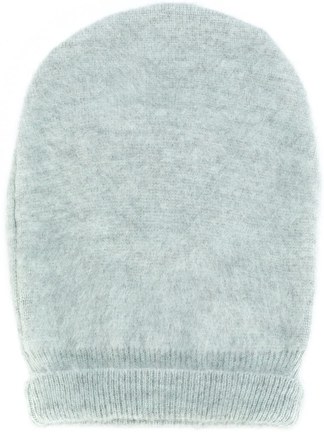 beanie blue knit hat