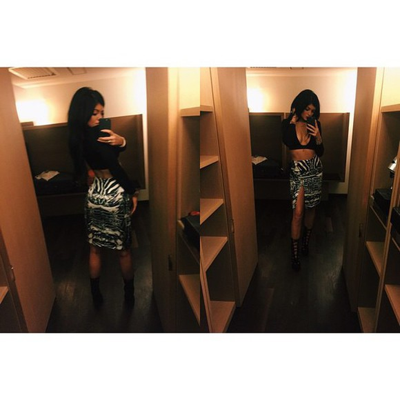 shoes blouse kylie jenner top crop tops skirt