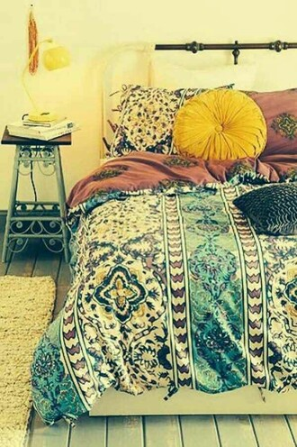 home accessory bedding hipster boho pattern bedroom