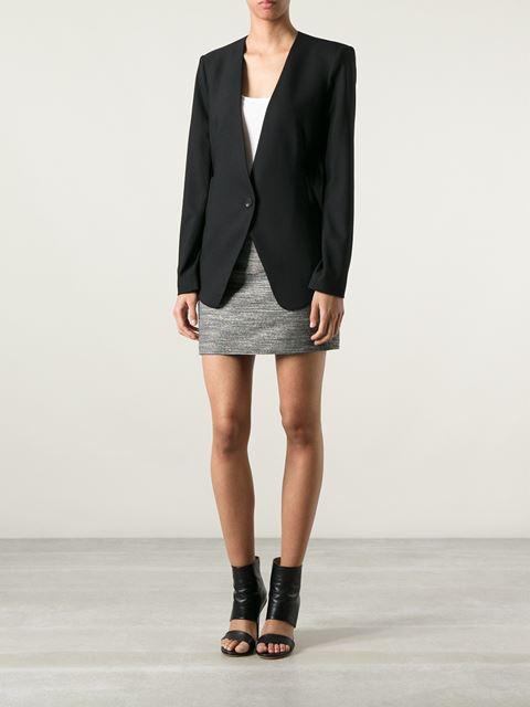 Helmut lang boxy structured blazer