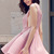 Stylish Plunging Neck Sleeveless Solid Color Women's Flare Dress