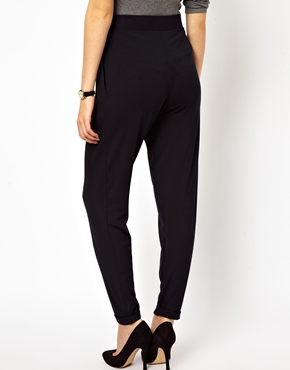 ASOS | ASOS Peg Trousers in Navy at ASOS