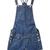 Blue Pockets Embellished Rolled Polka Dot Cuffs Dungarees - Sheinside.com