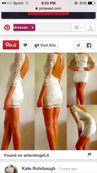 dress short dress lace dress white dress