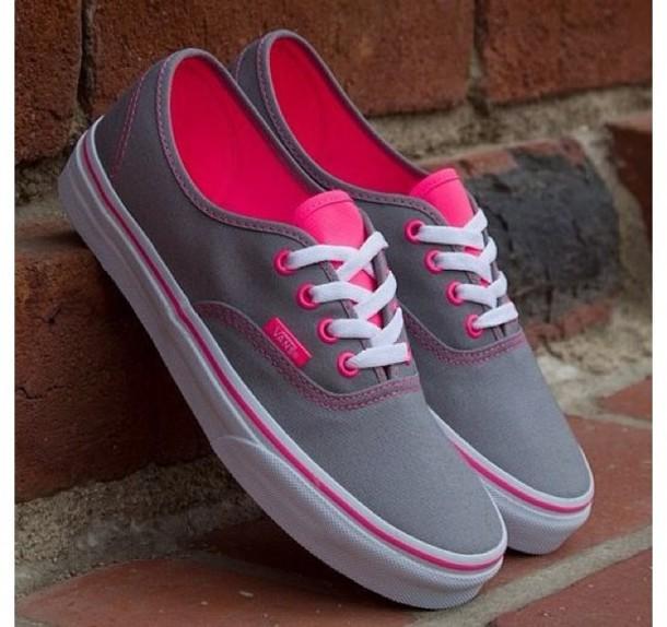 shoes grey pink white vans wheretoget