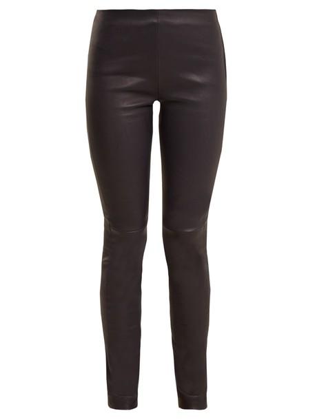 Raey leggings leather leggings leather navy pants