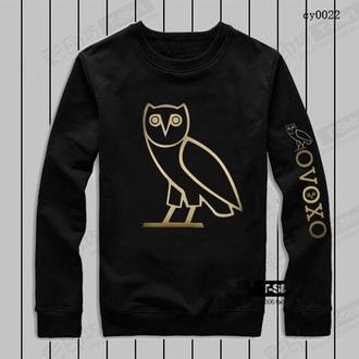 shirt black t-shirt gold ovoxo owl