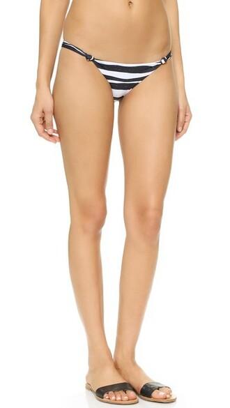 bikini bikini bottoms brazilian bikini white black swimwear