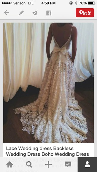 lace dress white lace dress wedding dress backless dress
