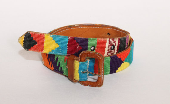 Vintage ethnic navajo southwestern woven leather by shopcollect