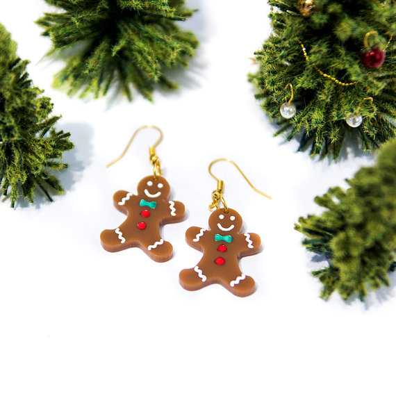 Gingerbreadman earringsplexiglass