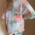 Turquoise Blue Peach Floral Chiffon Kimono Cardigan Jacket Boho TOP 6 8 10 12 | eBay