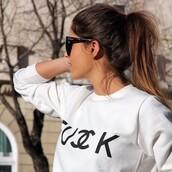 sweater,white,white sweater,chanel,sunglasses,dior,bag