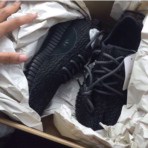 shoes adidas black tumblr yeezy 350 boost black sneakers e3cf75f4f