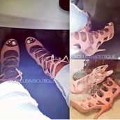 shoes,gladiators,breckelles,nude,black,cherry,cut-out,lace up,laces,sandals,red