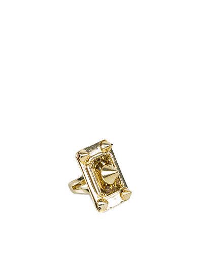 Big Studded Ring - Nly Accessories - Gull - Smykker - Tilbehør - Kvinne - Nelly.com