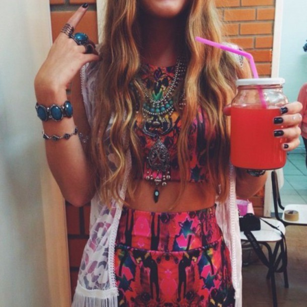 dress muticolored mixed top colorful crop top