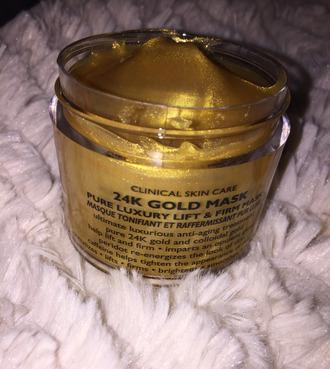 make-up facial half mask gold 24 stilinski acne cleaner