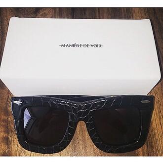 sunglasses maniere de voir cannes croc oversized eyewear