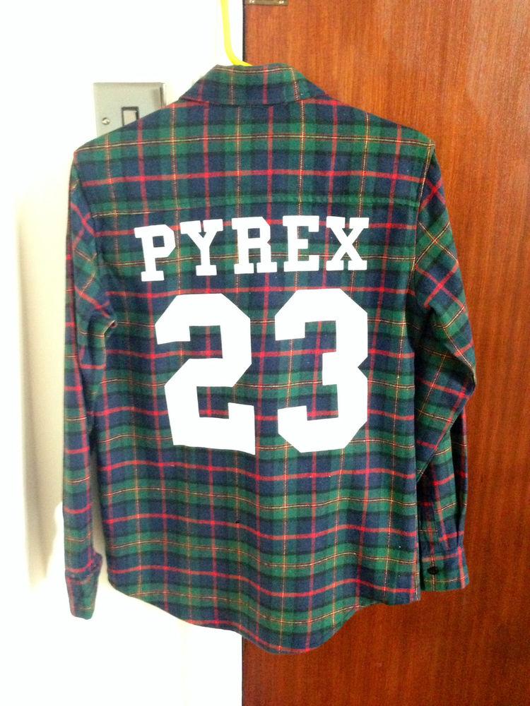 Pyrex Vision Mens Rugby Flannel Check Shirt VSVP Trapstar A$AP Plaid Bandana | eBay