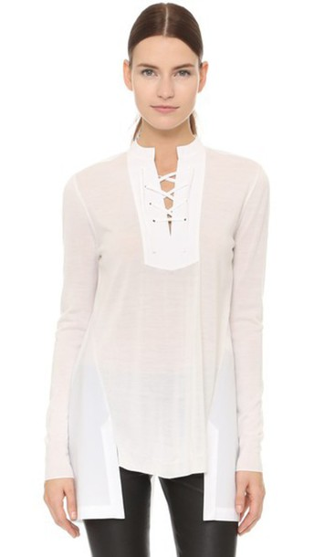 Thakoon Lace Front Top - White