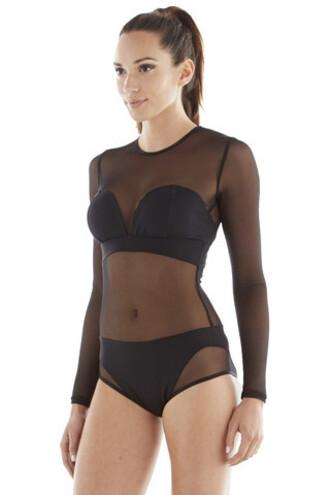 underwear michi bodysuit black designer bikiniluxe