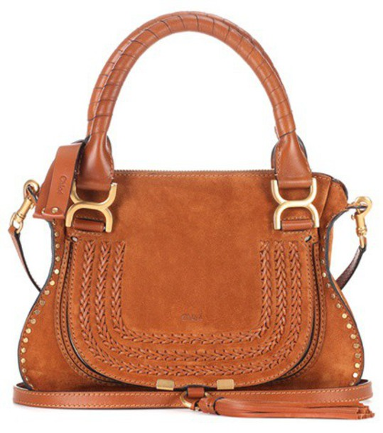 Chloe bag shoulder bag suede brown
