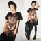 Rock 3d animal lion print short in front long jumper top t shirt tee t shirt | ebay