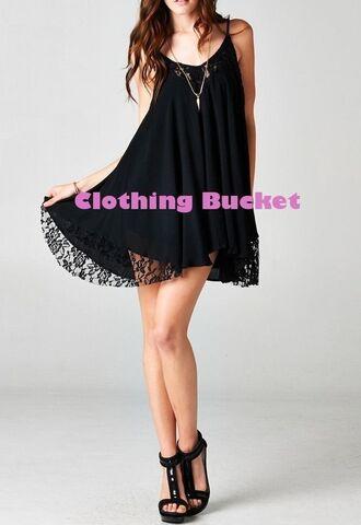 sundress lace dress dress beach dress boho little black dress lace tunic tea dress