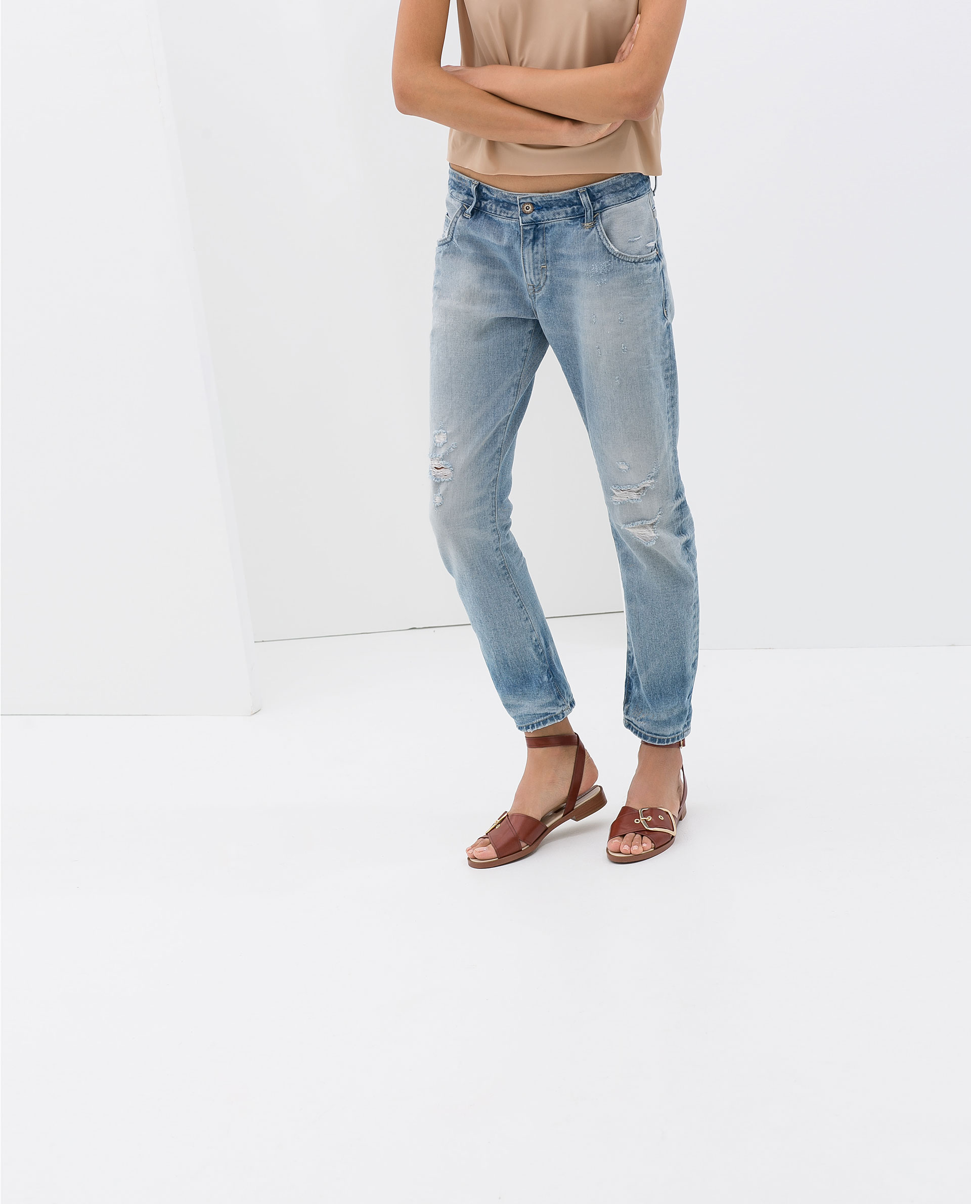 RIPPED BOYFRIEND JEANS  NEW THIS WEEK  ZARA Czech Republic