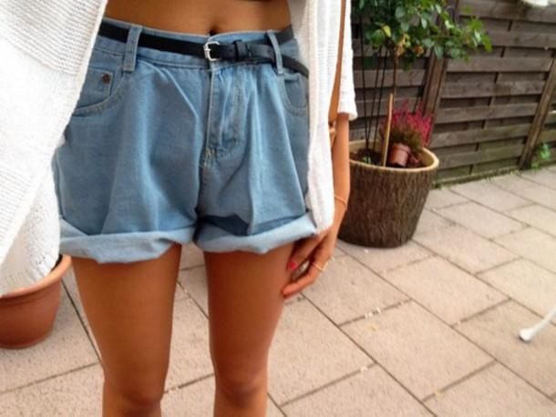 shorts rolled up denim vintage hipster