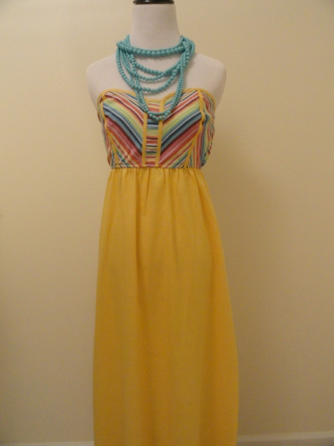 Colors of the rainbow maxi in yellow