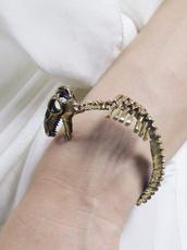 jewels,dinosaur,t-rex,bracelets,bones,skeleton,science,nerd