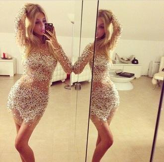 diamonds dress classy white dress jewels sequins new year's eve