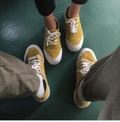 shoes,mustard,yellow shoes,skater shoes,yellow