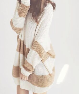 sweater sweater dress winter sweater korean fashion korean style japan japanese fashion asian white dress brown dress knitted dress