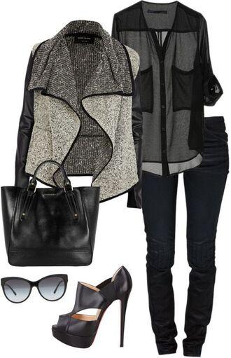 jacket grey jacket black jeans