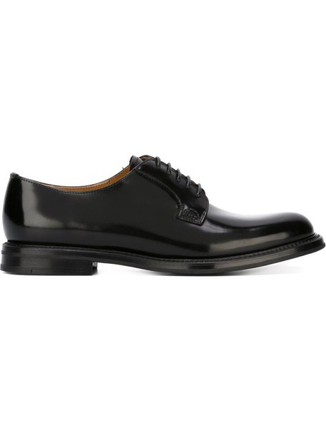 Church's women shoes lace-up shoes lace leather black