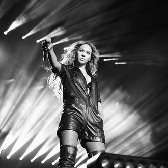 jumpsuit beyonce black black leather