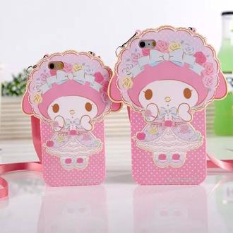 phone cover rose my melody iphone case kawaii cute kawaii accessory