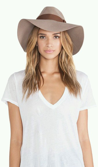 brown hat taupe