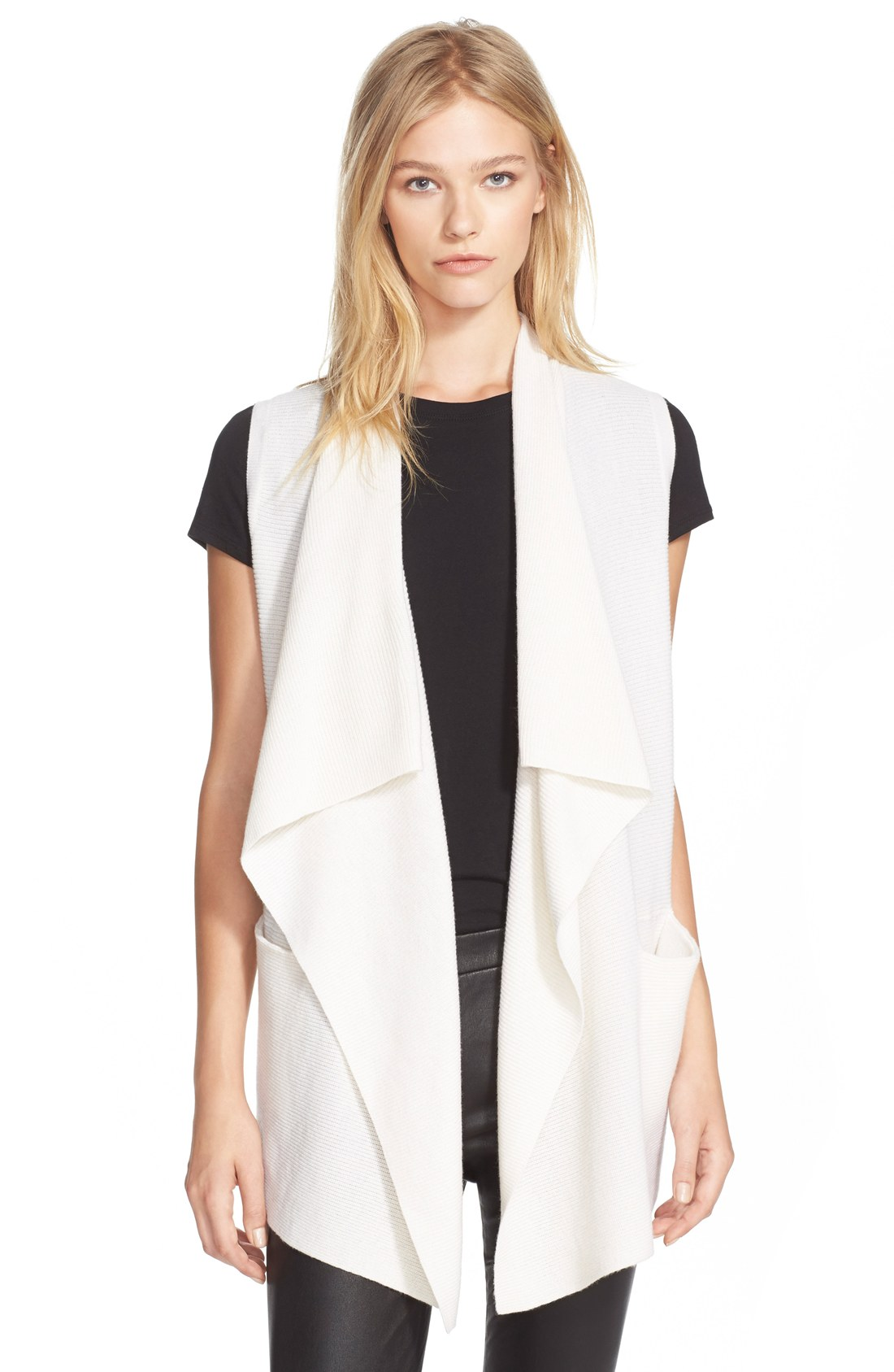 Drape Front Wool & Cashmere Sweater Vest | Nordstrom