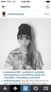 hat,black,badhairday,beanie