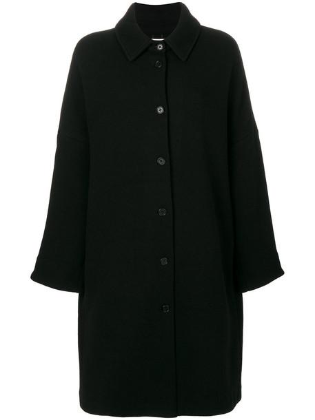 BARENA coat women cotton black wool