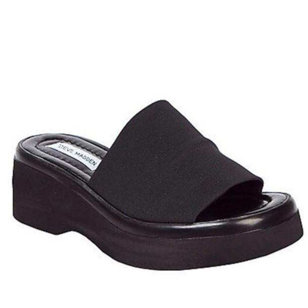 11ea9926a0499b shoes black sandals grunge 90 s shoes slide shoes