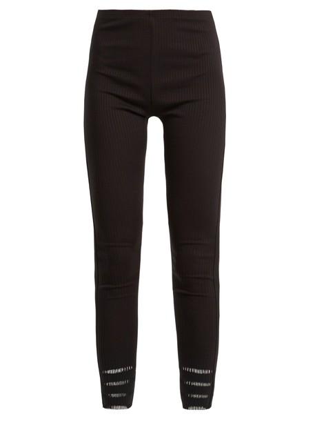 PLEATS PLEASE ISSEY MIYAKE leggings pleated black pants