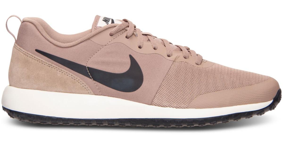 uk availability 555e8 4e8d7 Nike  Beige Mens Elite Shinsen Casual Sneakers From Finish L