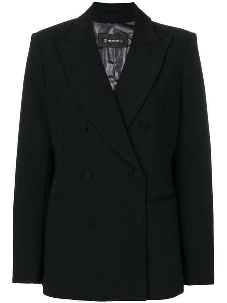 Plein Sud blazer women spandex black wool jacket
