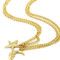 Gold moon and star pendant necklace