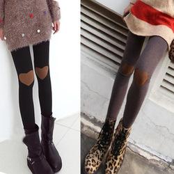 Nouveau mode de l'automne coeur. coeur. genou, jardinbouchez bottines. collants,'pantalon ladies' féminine's
